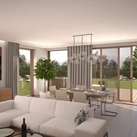 vizualizace interiéru vily
